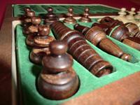 Vertiefungen für die Schachfiguren - Ansicht 2
